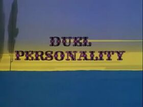 Duel Personality Title Screen