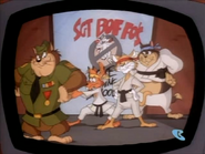 Sergeant Boffo Students Posing on TV