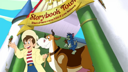 Tom and Jerry's Giant Adventure - Jack, Hermione, Tom and Jerry leaving Storybook Town