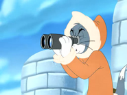 Polar Peril - Tom in his binoculars