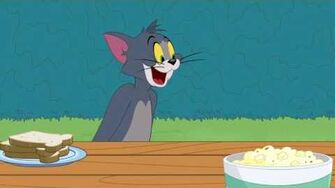 Tom & Jerry Flaming Hot Sandwich Cartoon World