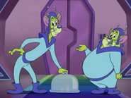 Martian Mice - Giant Alien Mice servants talking and blocking Tom and Jerry