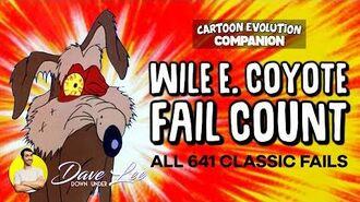 WILE E. COYOTE - All 641 Classic FAILS (Cartoon Evolution Fail Count)