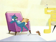 The Mansion Cat - Tom stepping on Jerry's tail