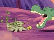 Prehisterics - T-Rex roaring at Ankylosaurus