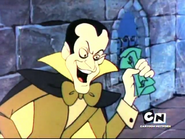 Castle Wiz - Count Scarealotti grabbing dollars