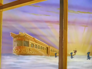 Cats walking in the Heavenly Express