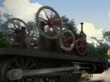 Разобранный паровоз