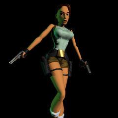 Lara Croft en 1996