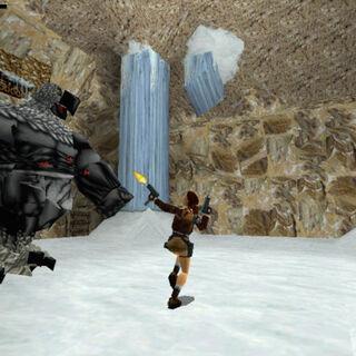 Lara luchando contra el Guardian