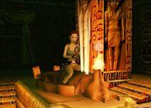 Lara toma amuleto set tumba