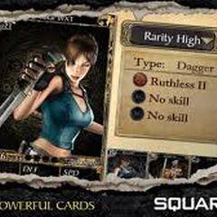 Carta de Habilidades del jugador