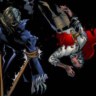 Eckardt mata a Konstantin.