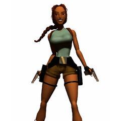 Lara Croft en 1997