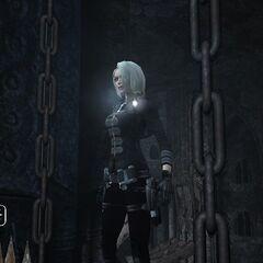 Lara con el traje desbloquea ble de Amanda en TRL