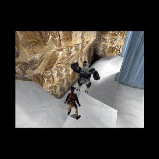 Lara frente al guardian