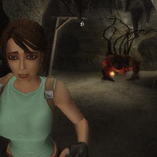 Lara escapando del espectro