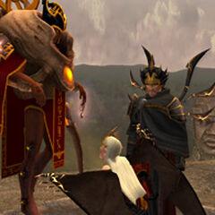 El y su Hermano castigando a Natla.