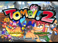 Tombi! 2 Title Screen