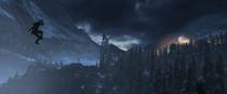 Rise of the Tomb Raider - Screenshot - Lara seilt sich ab