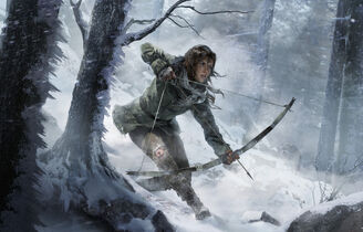 Rise of the Tomb Raider - Artwork - Lara - Bogen