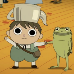 Gregory with his Frog (at the time known as President George Washington).