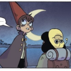 Sara with Wirt, as they appear in the comics.