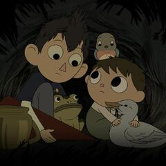 Gregory and Wirt hitching a ride.
