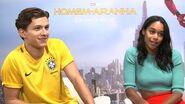 Homem Aranha - Entrevista com Tom Holland e Laura Harrier - IGN Entrevistas