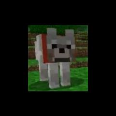 A Minecraft dog. G likes Minecraft.