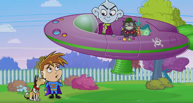 Tommy And Daniel Not Suprised About Polluto And Smogg On A Blimp