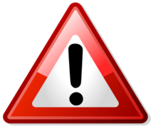 Red icon warning