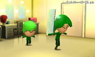 Two Miis running around