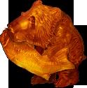 Wooden Bear Statue TL JP