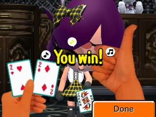 Mii losing cards Congratulations