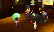 Group of miis hanging out playing with maracas