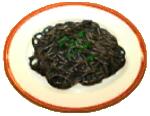 Squid-ink spaghetti