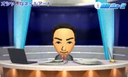 Mii bowing at the end of the Newscast