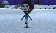 Mii using soccer ball