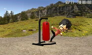 Mii in normal fight punching bag