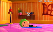 A Mii taking a nap.