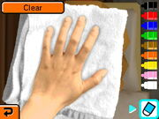 Cleaning Mii's face off while sleeping