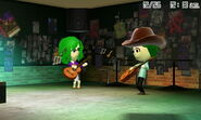 Mii playing guitar