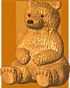Wooden Bear Statue TL