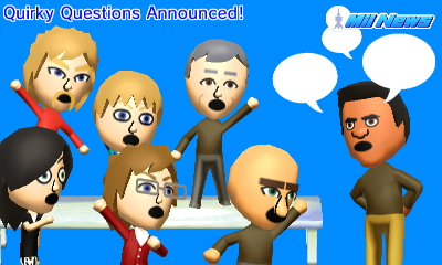 Quirky Questions Announced