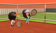Miis playing tenis