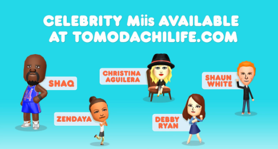 Celebrity tomodachi qr codes