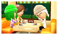 Girls at cafe