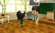 Two Miis talking to each other