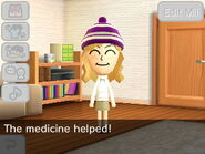 The medicine made the Mii feel better